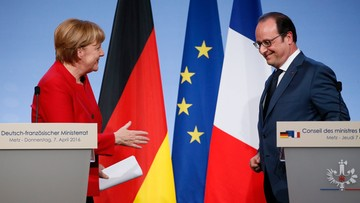 07-04-2016 18:37 Niemcy i Francja demonstrują zgodę w kryzysie migracyjnym