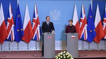 10-12-2015 11:54 Szydło: nie ma pełnej zgody z Wielką Brytanią w sprawie zasiłków, ale w wielu kwestiach nasz punkt widzenia jest zbieżny