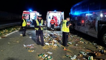 10-07-2016 12:00 Wypadek autobusu wiozącego dzieci na kolonie