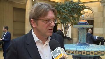 """30-01-2016 16:00 """"Podążam za wolą większości Polaków"""". Nasz wywiad z Verhofstadtem"""