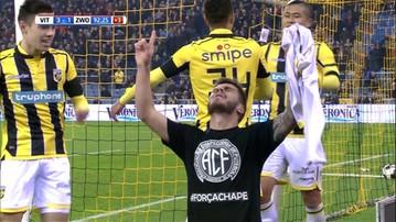 2016-12-05 Sędzia nie pokazał żółtej kartki za zdjęcie koszulki. Piłkarz oddał cześć zawodnikom Chapecoense (WIDEO)