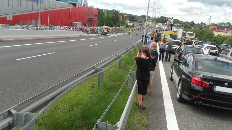 2016-07-14 Tour de Pologne zablokowało Zakopiankę