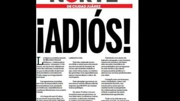 03-04-2017 18:48 Meksyk: dziennik przestaje się ukazywać z powodów bezpieczeństwa