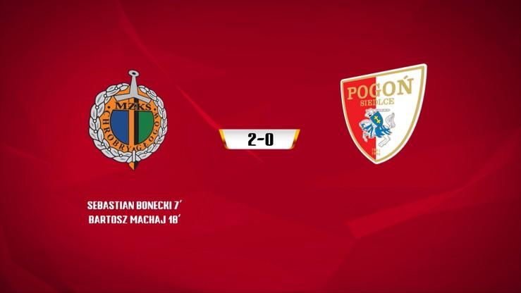 Chrobry Głogów - Pogoń Siedlce 2:0. Skrót meczu