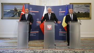 09-06-2016 14:16 Waszczykowski: Polska, Rumunia i Turcja za wzmocnieniem wschodniej flanki NATO