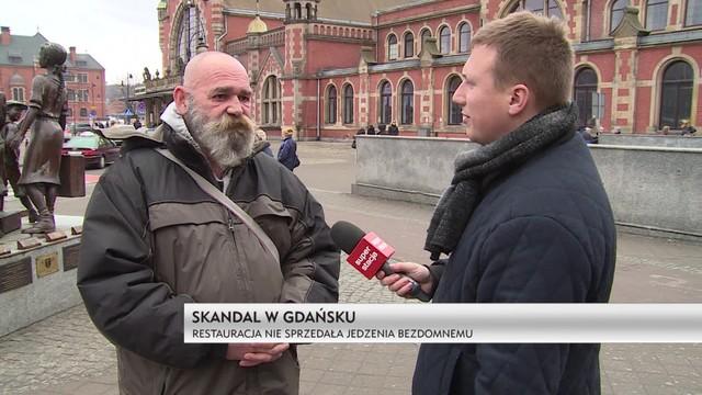 Skandal w Gdańsku: fast food nie obsłużył bezdomnego