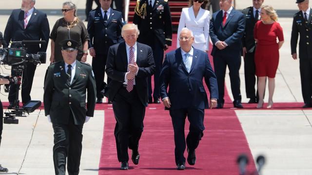 Prezydent Trump przybył z wizytą do Izraela