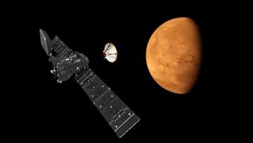 19-10-2016 18:05 Lądownik misji ExoMars osiadł na powierzchni Marsa