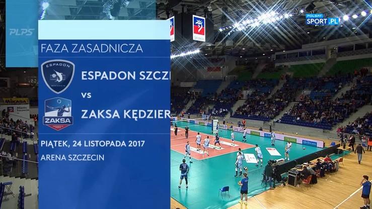 Espadon Szczecin - ZAKSA Kędzierzyn-Koźle 2:3. Skrót meczu
