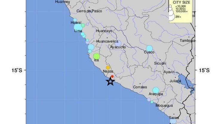 Silne trzęsienie ziemi u południowego wybrzeża Peru. Jedna ofiara śmiertelna, dziesiątki rannych
