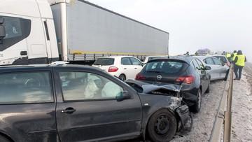 03-02-2017 10:51 Karambol na Dolnym Śląsku. Zderzyło się 25 aut