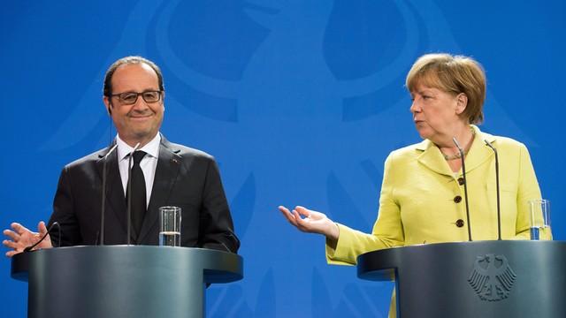 Hollande i Merkel rozmawiali z premierem Grecji