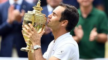 2017-07-16 Wimbledon: Federer sięgnął po ósmy tytuł w jednostronnym finale