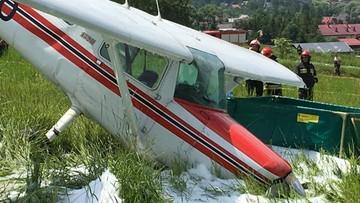 2017-06-24 Wypadek awionetki w Lubniu (woj. małopolskie). Samolot uderzył w ziemię