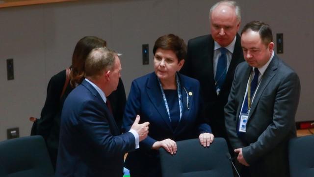 Kulisy szczytu: Nie było dyskusji; tylko Szydło zabrała głos