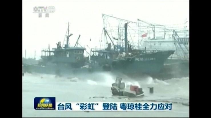 Tajfun Mujigae uderzył w wybrzeże Chin. Co najmniej 4 ofiary śmiertelne