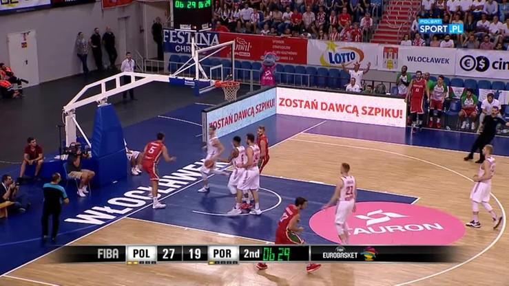Powiało wielką koszykówką! Alley-oop u Portugalczyków