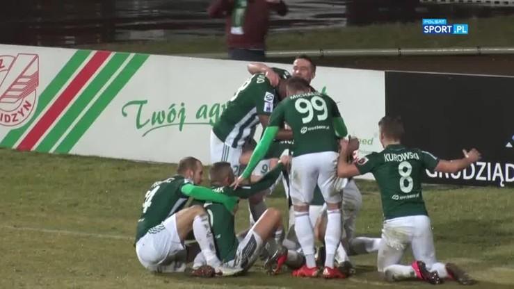 Olimpia Grudziądz - GKS Tychy 1:0. Gol Angielskiego