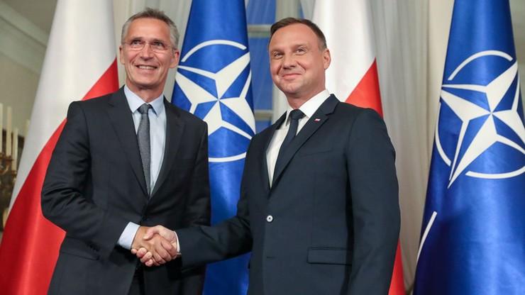 Prezydent Duda spotkał się z szefem NATO