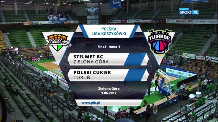 Stelmet BC Zielona Góra - Polski Cukier Toruń 88:69. Skrót meczu