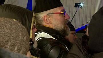 2017-12-12 Kijowski na proteście przed Senatem