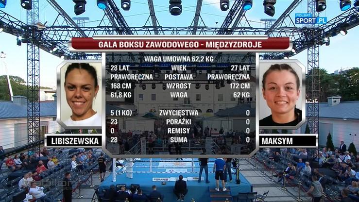 Sylwia Maksym - Bojana Libiszewska. Skrót walki