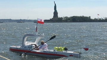Aleksander Doba: ster naprawiony. Kajakarz znowu płynie przez Atlantyk. W Europie chce być we wrześniu