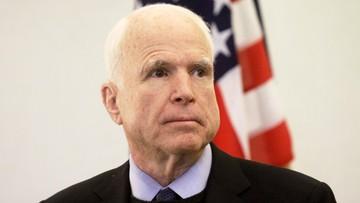 """""""Może przekonamy Rosję do zaprzestania ataków na fundamenty demokracji"""". McCain o nałożeniu sankcji"""