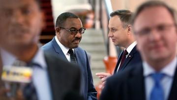 08-05-2017 19:05 Prezydent Duda rozmawiał z premierem Etiopii o współpracy gospodarczej
