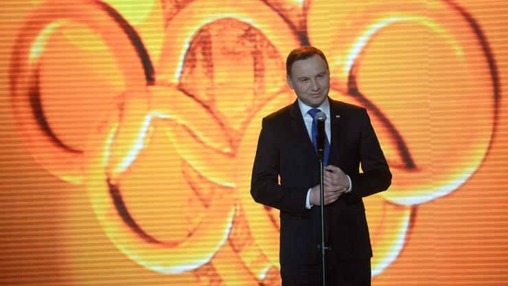 Prezydent: chciałbym przysłowiowego gradu medali w Rio