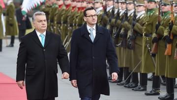 """03-01-2018 12:43 """"Spotkanie Morawieckiego i Orbana postrzegane jako akt buntu przeciw Brukseli i UE"""""""