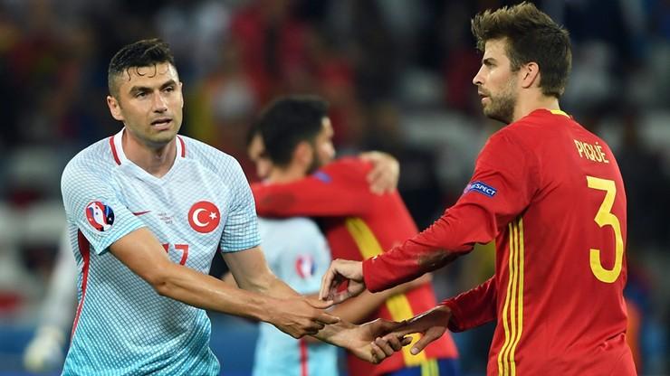 Euro 2016: Tureckie media podziękowały... hiszpańskim piłkarzom