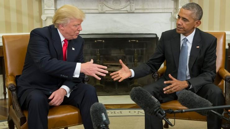 Obama: zrobię wszystko, by Trump odniósł sukces