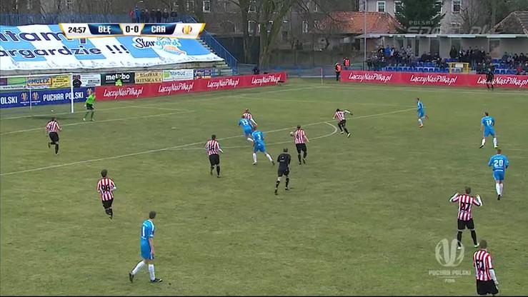 2015-03-04 Błękitni Stargard Szczeciński - Cracovia 2:0. Skrót meczu