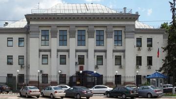 """17-09-2016 11:21 """"Rosyjskie świnie, nie chcemy was tutaj"""". Ambasada Rosji w Kijowie ostrzelana fajerwerkami"""