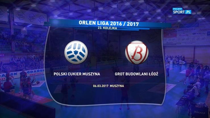 Polski Cukier Muszynianka Muszyna - Grot Budowlani Łódź 1:3. Skrót meczu