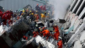 06-02-2016 12:15 Trzęsienie ziemi na Tajwanie. Rośnie liczba ofiar