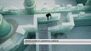 Freerun po lodowym mieście w Chinach