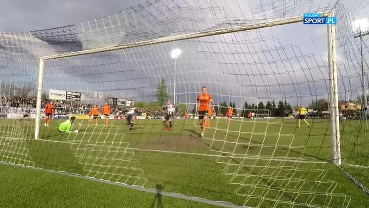 2017-04-24 Sandecja Nowy Sącz - Chrobry Głogów 1:0. Skrót meczu