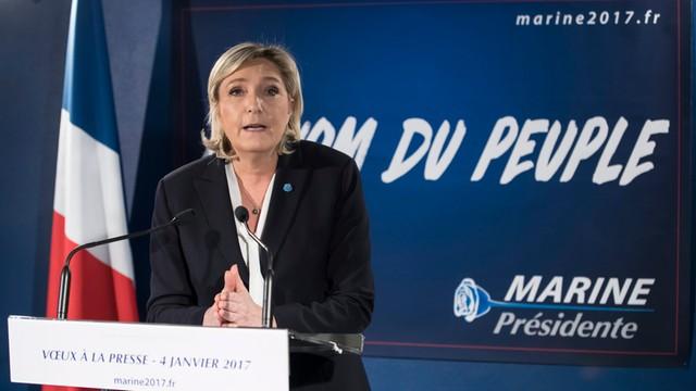 Sondaż: najwięcej Francuzów zamierza głosować na Marine Le Pen