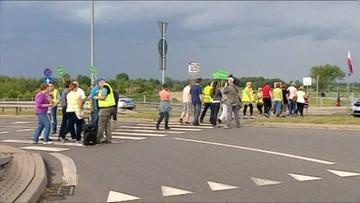 05-06-2016 08:19 Blokada drogi na Mazowszu. Utrudnienia na trasie do Grójca
