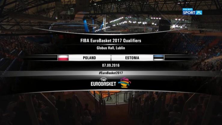Polska - Estonia 78:64. Skrót meczu