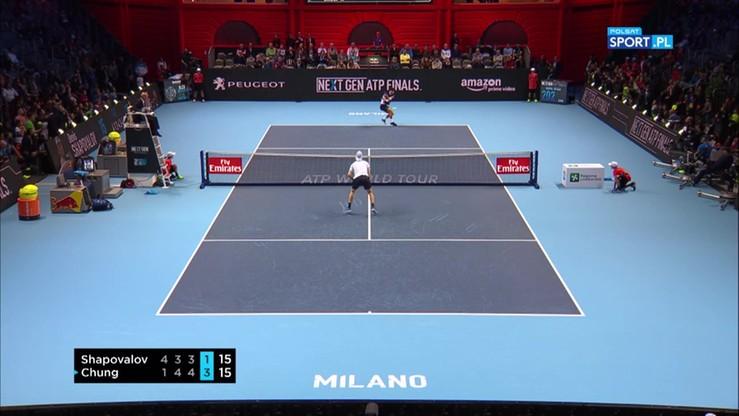 ATP Next Gen Finals: Tenisista przypomniał sobie o zasadach w trakcie serwisu!