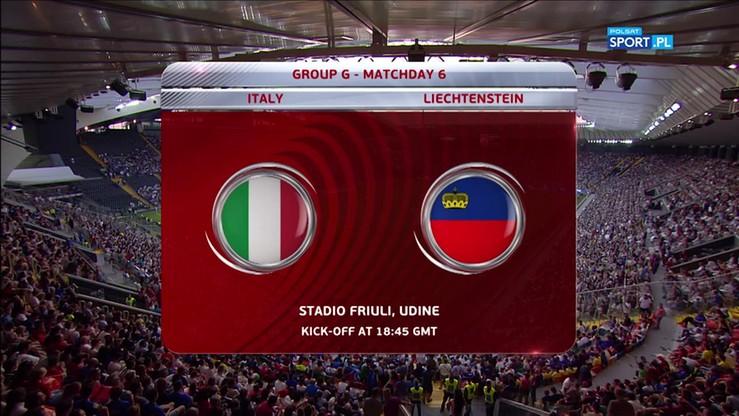 Włochy - Liechtenstein 5:0. Skrót meczu