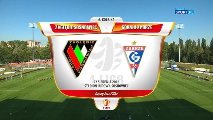 2016-08-27 Zagłębie Sosnowiec - Górnik Zabrze 2:1. Skrót meczu