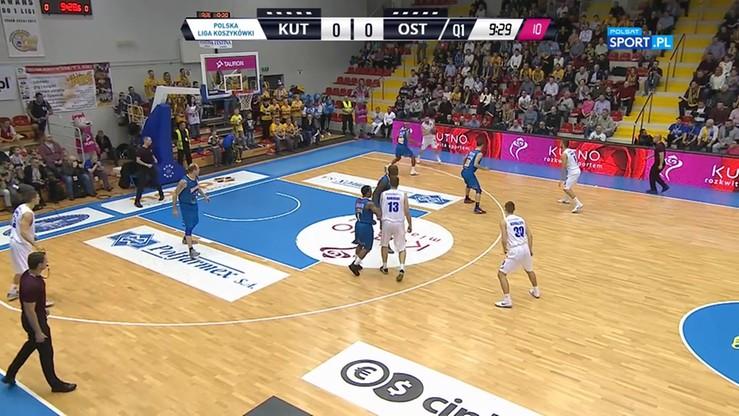 Polfarmex Kutno - BM Slam Stal Ostrów Wlkp. 72:80. Skrót meczu