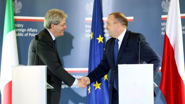 Szefowie MSZ Polski i Włoch o imigrantach