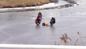 2017-02-19 Odwilż, a ludzie spacerują po lodzie. Strażacy apeluja