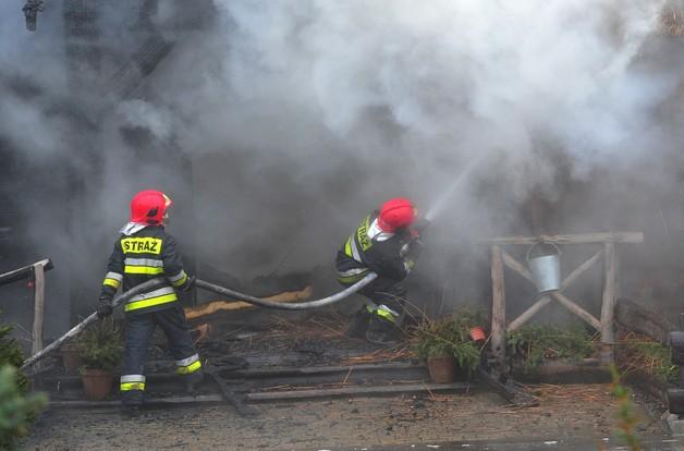 Pożar restauracji w Szczecinie. Jedna osoba ranna