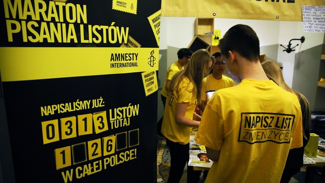 Finał Maratonu Pisania Listów Amnesty International
